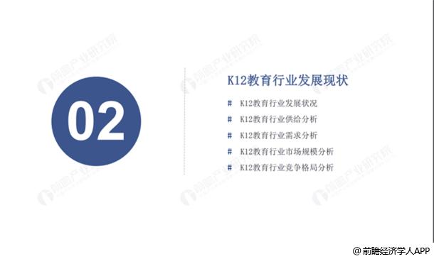 K12教育行業發展現狀