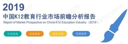 前瞻產業研究院:2019年中國K12教育行業市場前瞻分析報告