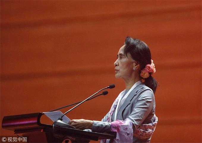 缅甸国务资政昂山素季呼吁投资者投资缅甸