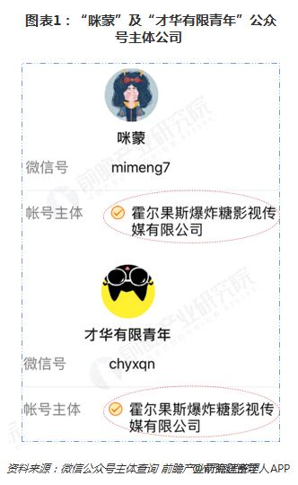 """图表1:""""咪蒙""""及""""才华有限青年""""公众号主体公司"""