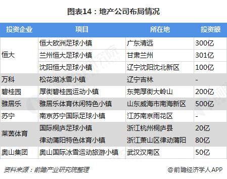 图表14:地产公司布局情况
