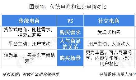 图表12:传统电商和社交电商对比