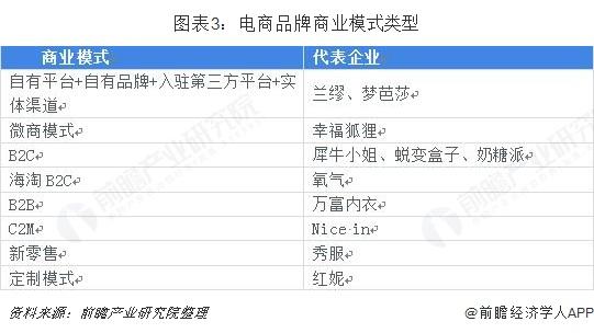 图表3:电商品牌商业模式类型