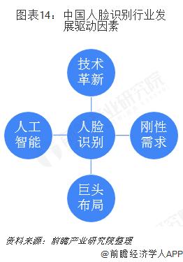 图表14:中国人脸识别行业发展驱动因素