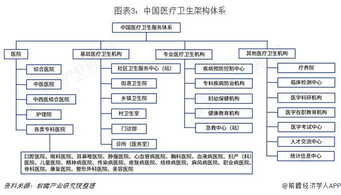 图表3:中国医疗卫生架构体系
