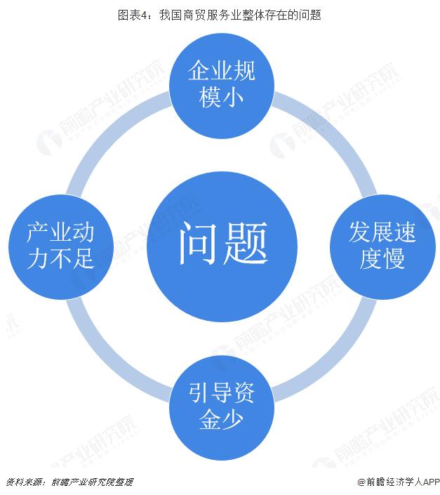 图表4:我国商贸服务业整体存在的问题