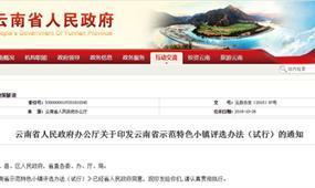 云南省示范特色小镇评选办法(试行)