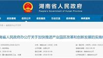 湖南省推进产业园区改革和创新发展的实施意见