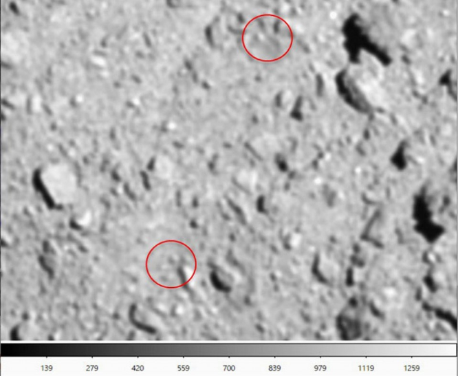 再发现十个陨石坑!JAXA隼鸟2号于龙宫小行星制造的