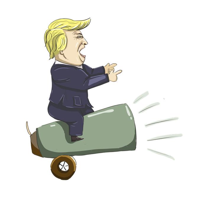 """出师不利!特朗普车队遇车祸 大谈""""经济增长""""前先遇队伍减员"""