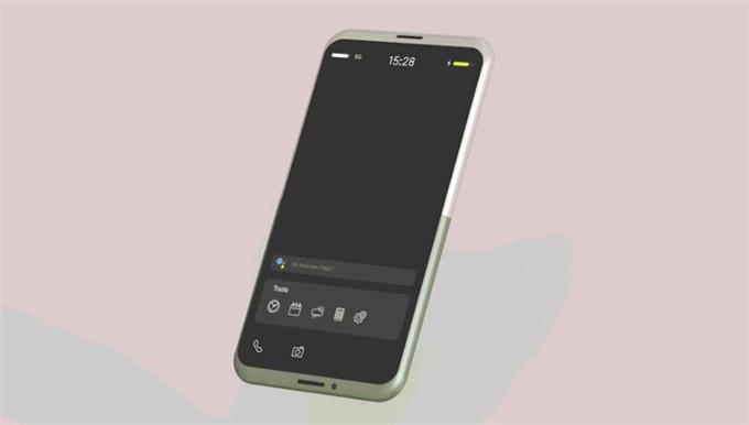 """设计师为""""戒掉""""智能手机脑洞大开:屏幕旋转180°秒变功能机"""