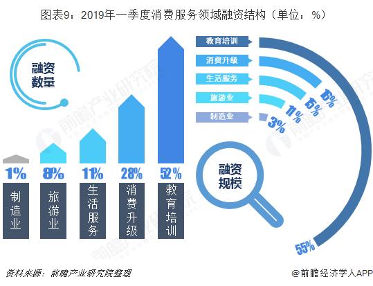 图表9:2019年一季度消费服务领域融资结构(单位:%)