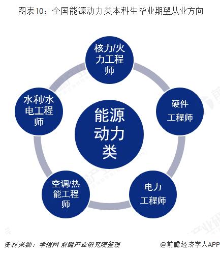 图表10:全国能源动力类本科生毕业期望从业方向