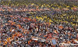 无人工成本!天津现共享单车粉碎工厂 零件99%可再利用