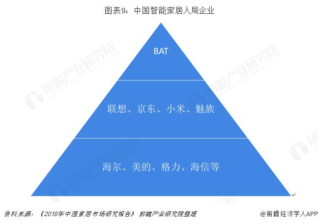图表9:中国智能家居入局企业