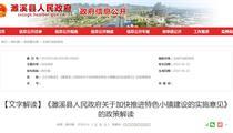 濉溪县特色小镇建设政策解读