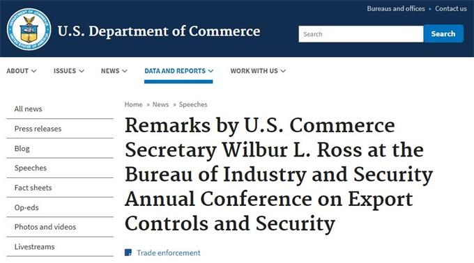 美国在不威胁其安全时发放华为许可证 但仍在实体清单上