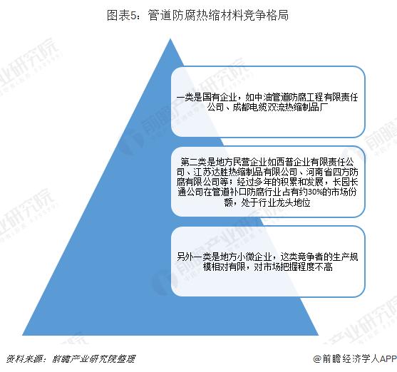 图表5:管道防腐热缩材料竞争格局