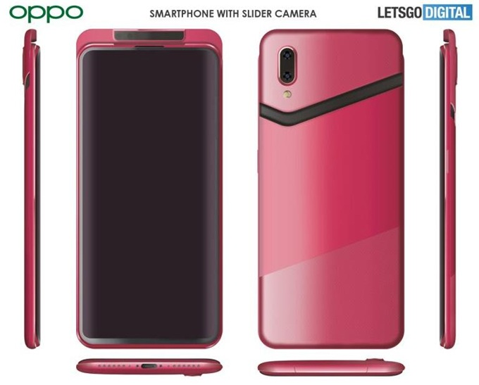 "OPPO再曝摄像新专利:""V""型滑动升降式双摄+全面屏 耳机孔消失"