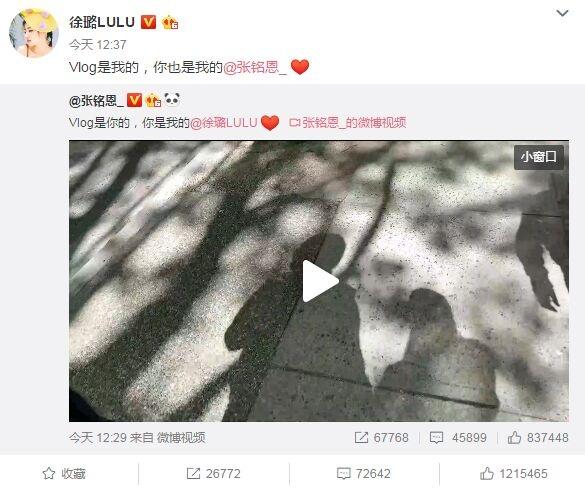 """Vlog认爱!徐璐张铭恩官宣 """"严羽幻""""与""""张日山""""擦出爱的火花"""