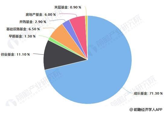 2019年H1中国股权投资市场募资基金额度占比统计情况