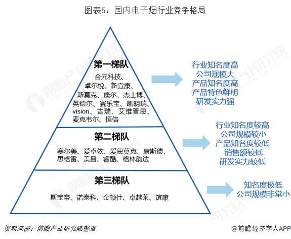 图表5:国内电子烟行业竞争格局