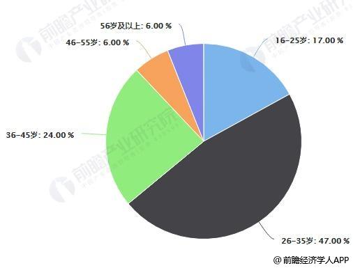 2018年中国家电网购用户年龄占比统计情况