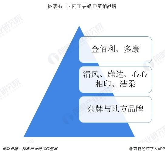 图表4: 国内主要纸巾商销品牌