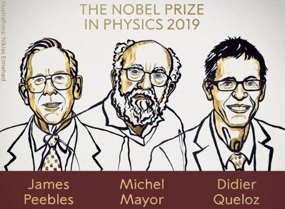 2019年诺贝尔物理学奖揭晓 表彰3位科学家对宇宙结构和历史的新理解