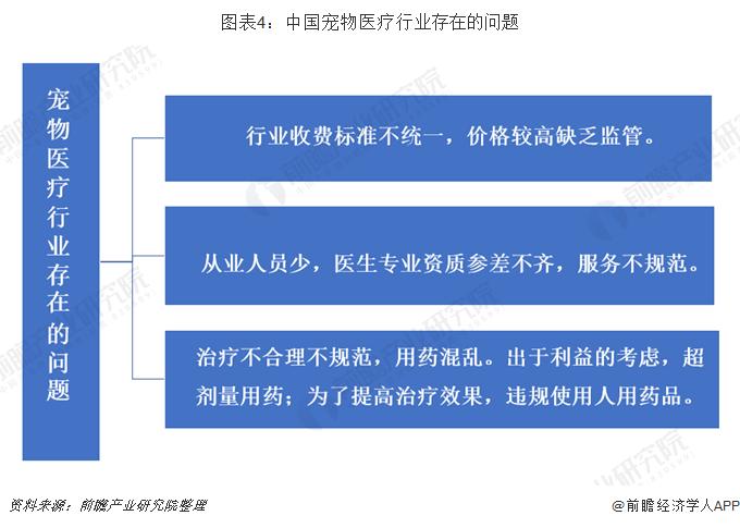 图表4:中国宠物医疗行业存在的问题