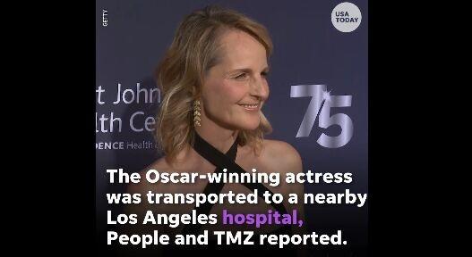 惊险!奥斯卡影后海伦・亨特遇车祸 所幸已无大碍只受到一点惊吓