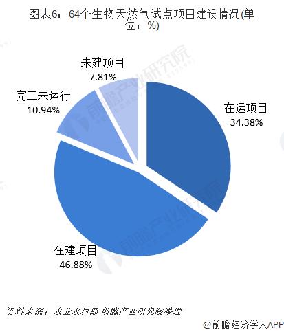 图表6:64个生物天然气试点项目建设情况(单位:%)
