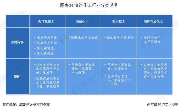 图表34 海洋化工行业分类说明