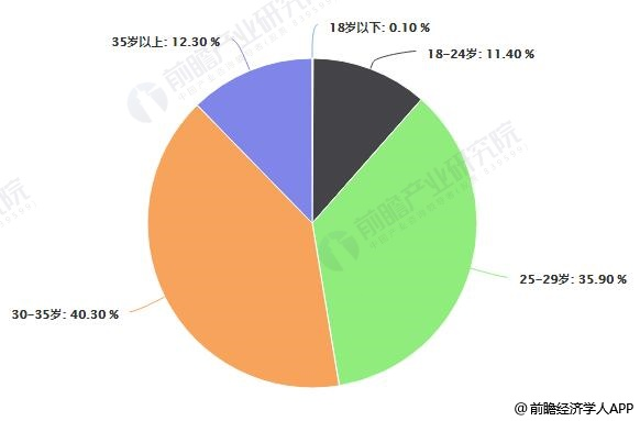 2018年中国化妆品行业消费群体年龄分布情况
