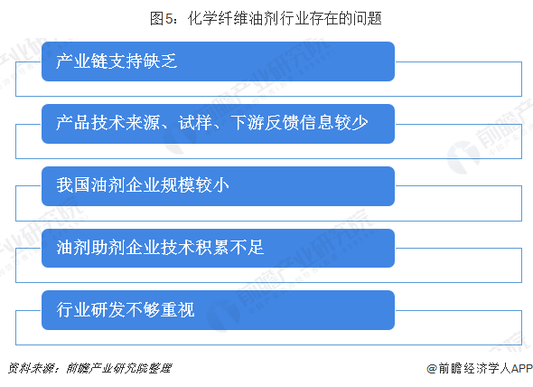 图5:化学纤维油剂行业存在的问题