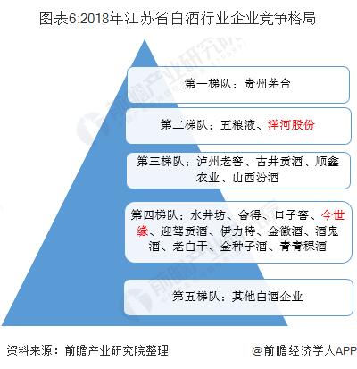 图表6:2018年江苏省白酒行业企业竞争格局