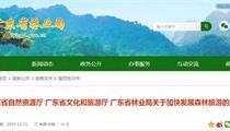 广东省发展森林旅游扶持政策
