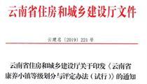 云南省康养小镇等级划分与评定办法(试行)
