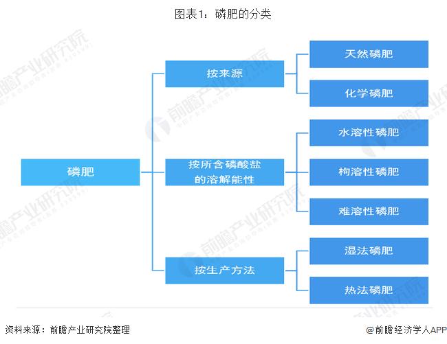图表1:磷肥的分类