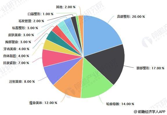 2019年中国医美网购市场规模占比统计情况