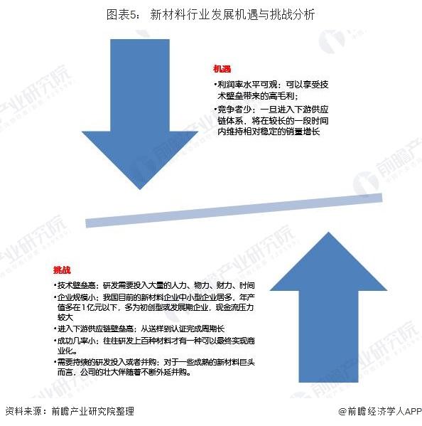 图表5: 新材料行业发展机遇与挑战分析