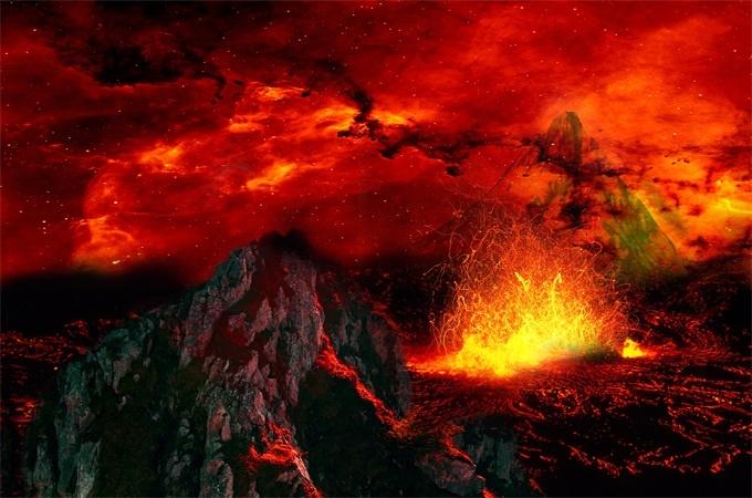 菲律宾火山喷发