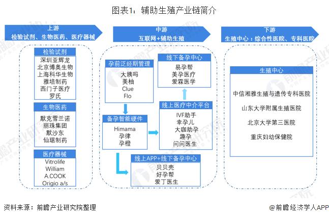 图表1:辅助生殖产业链概况
