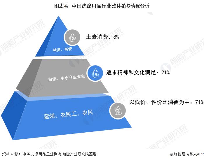 图表4:中国洗涤用品行业整体消费情况分析