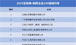 2019年互联网+制药企业100强排行榜