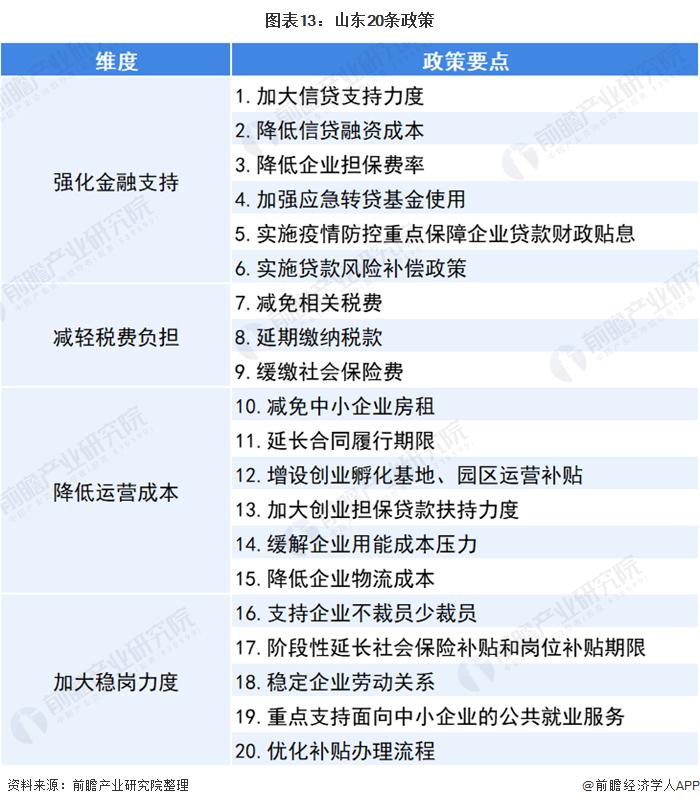 图表13:山东20条政策