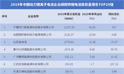 2019年中国动力锂离子电池企业<em>磷酸</em>铁锂电池装机量排名TOP20强