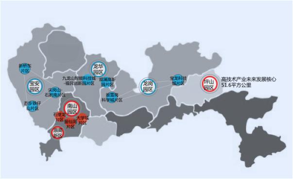 深圳高新区扩容示意图