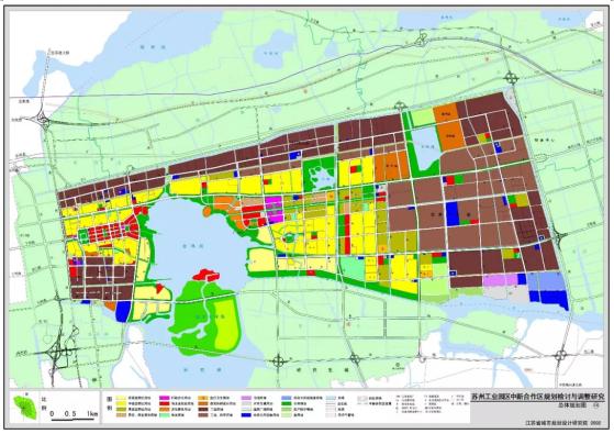 中新合作区规划检讨与调整-总体空间布局