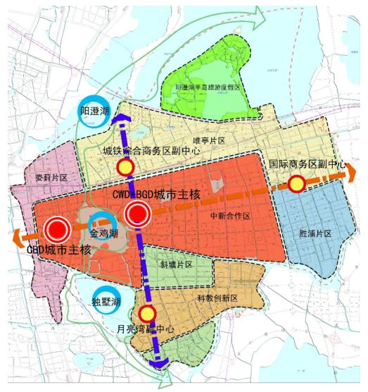 苏州工业园区总体规划结构图(2012-2030)